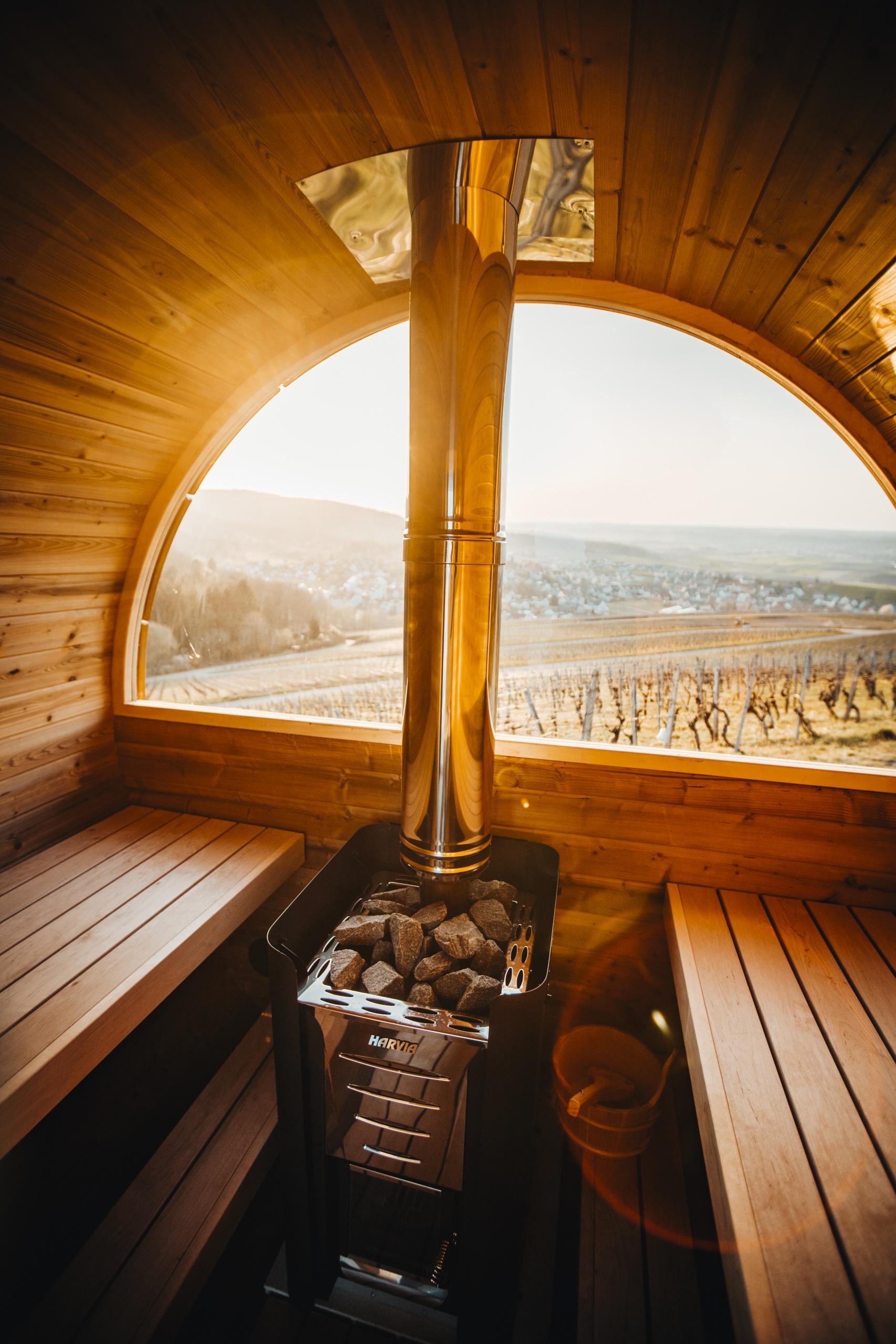 Sauna in Weinberge