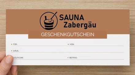 Gutschein Rückseite Sauna Zabergäu